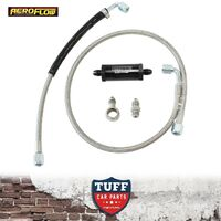 FG Ford Falcon XR6 G6 Turbo Aeroflow Braided Oil Feed Line Kit 40 Micron Filter