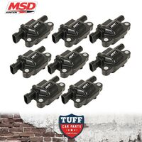 VF Holden Commodore L77 6l LS3 6.2lt V8 MSD Performance Ignition Coils x 8 Black