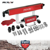 Mazda RX7 Series 6 7 8 Rotary 13B Turbo Red Billet Fuel Rail Kit S6 11mm & 14mm