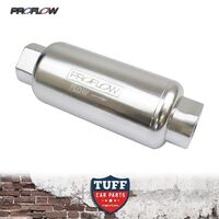 PROFLOW 40 MICRON -10AN SILVER BILLET REUSABLE FUEL FILTER STAINLESS ELEMENT -10