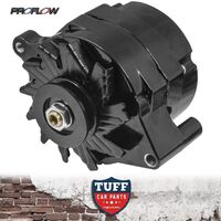 Ford Bronco V8 302 351 Proflow Black Alternator 140 AMP with Internal Regulator