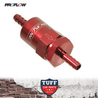 "Proflow Competition Billet Fuel Filter 30 Micron Anodized Red 1/2"" Barb Fittings"
