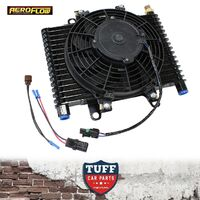 "Aeroflow Competition Transmission Oil Cooler Fan & Switch 13.5""x9""x3.5"" -10 ORB"