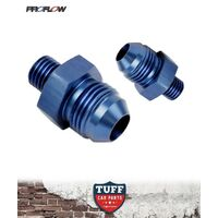 Proflow Fittings suit Bosch 044 Fuel Pump AN -8 Inlet & Outlet -8AN Blue New