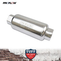 Proflow 40 Micron -8AN Silver Billet Reusable Fuel Filter Stainless Element -8
