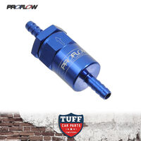 "Proflow Competition Billet Reusable Fuel Filter 30 Micron Blue 1/2"" Barb Inlet"