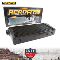 "Aeroflow 600x300x100 Alloy Intercooler Black with 3"" Inlet Outlet AF90-1004BLK"